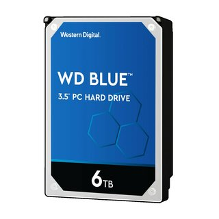 Western Digital WD Blue 6TB, SATA 6Gb/s Festplatte intern...