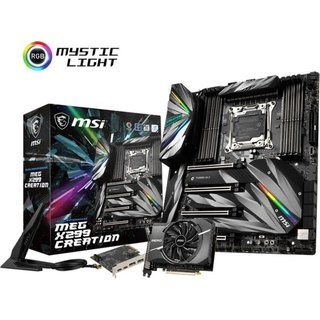 MSI MEG X299 Creation (7C06-001R) E-ATX Mainboard Sockel...